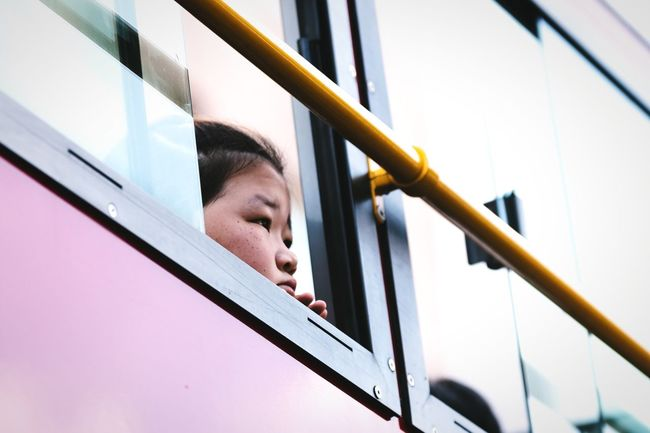 Observing Headshot Close-up Low Angle View One Person People Person Bus Window Observing Girl Girls Child Children Young Girl Asian Girl Innocence Looking Out Of The Window Korean Cuteness Lifestyles Tourist Windows From My Window Faces Of EyeEm Face