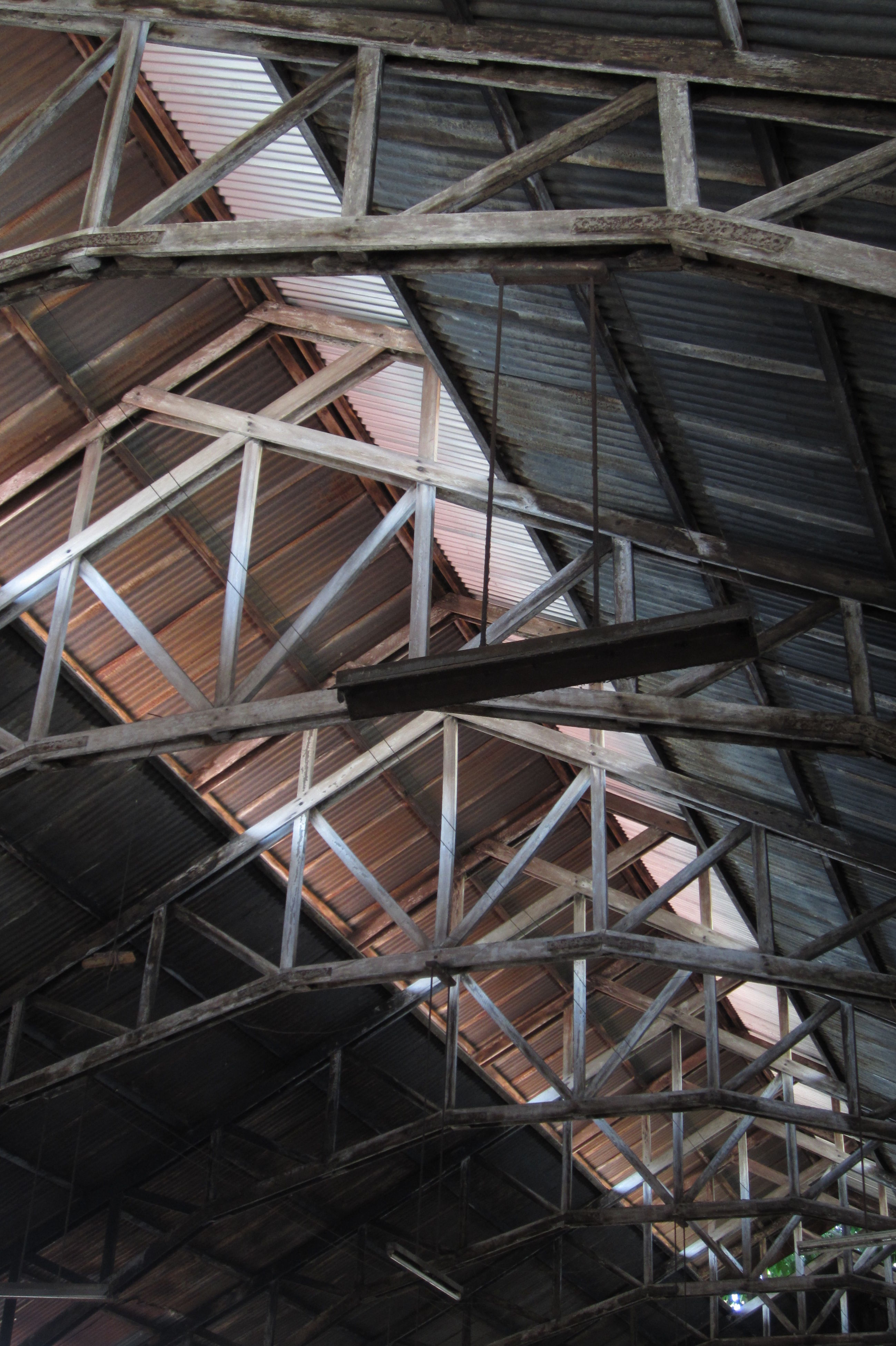 built structure, architecture, pattern, metal, building exterior, low angle view, no people, day, outdoors