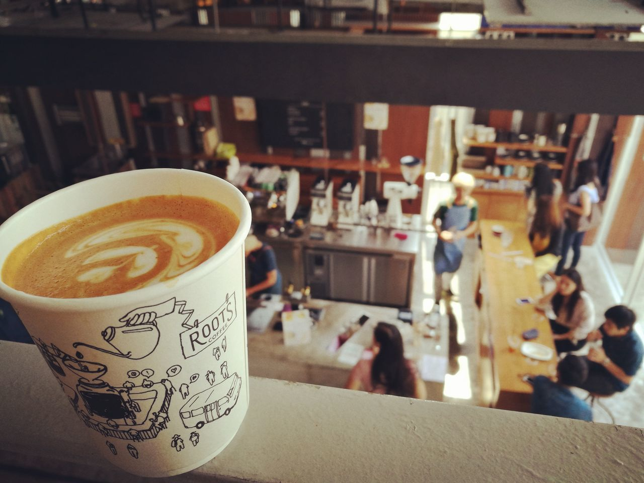 drink, coffee cup, coffee - drink, food and drink, frothy drink, indoors, focus on foreground, refreshment, table, close-up, froth art, cappuccino, latte, freshness, day, no people