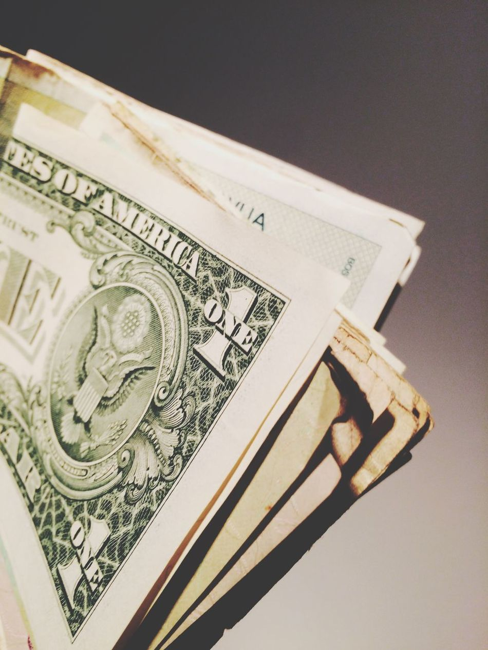Beautiful stock photos of stock exchange, American One Dollar Bill, Close-Up, Currency, Dollar