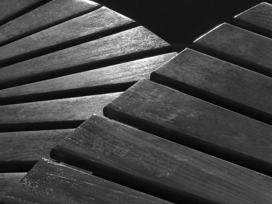 Black And White Close-up Compositon Geometric Shapes Light And Shadow No People Pattern
