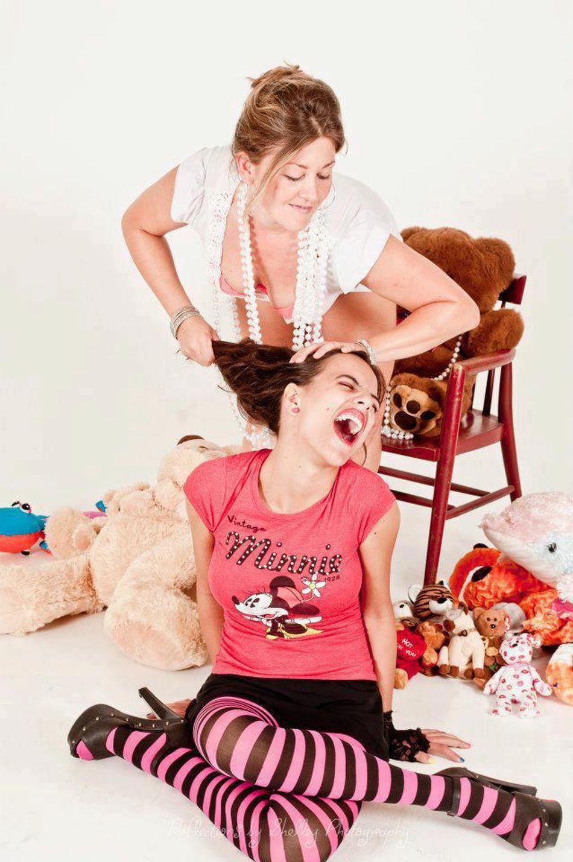Fight like a girl! Girl Fight Girl Stuffed Animal Pink