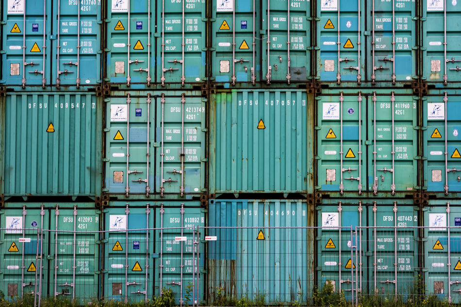 Beautiful stock photos of hamburg, Backgrounds, Cargo Container, Container, Corrugated