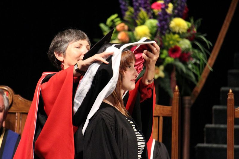 Camera is a tool for capturing moments to help relive them long after. That Moment Convocation Memorial University University Graduation Confidence  Adult Female Young Adult Canadian Woman Indoor