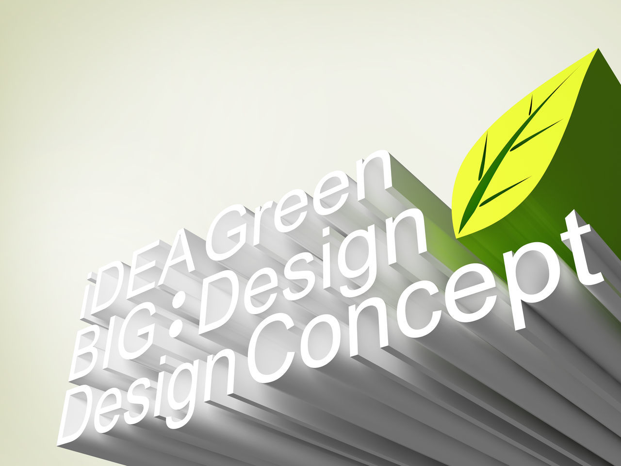 3D Art Business Close-up Design Green Ideal Innovation Leaf No People Text White