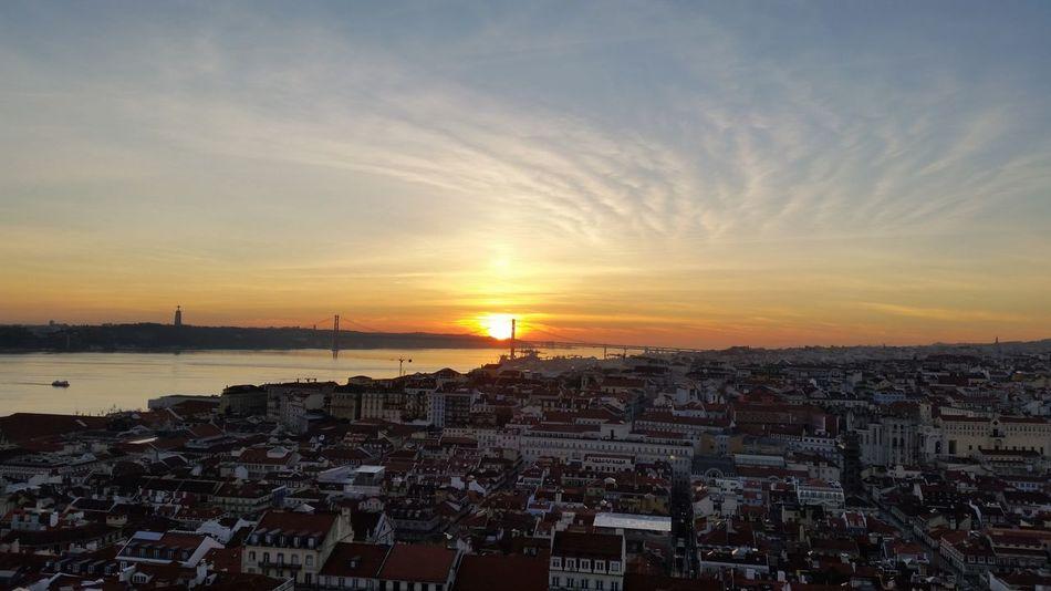 Lizbona Portugalia Sunset City Sea Sky Cityscape Lisbon - Portugal Lisbonlovers Lisbon Portugal