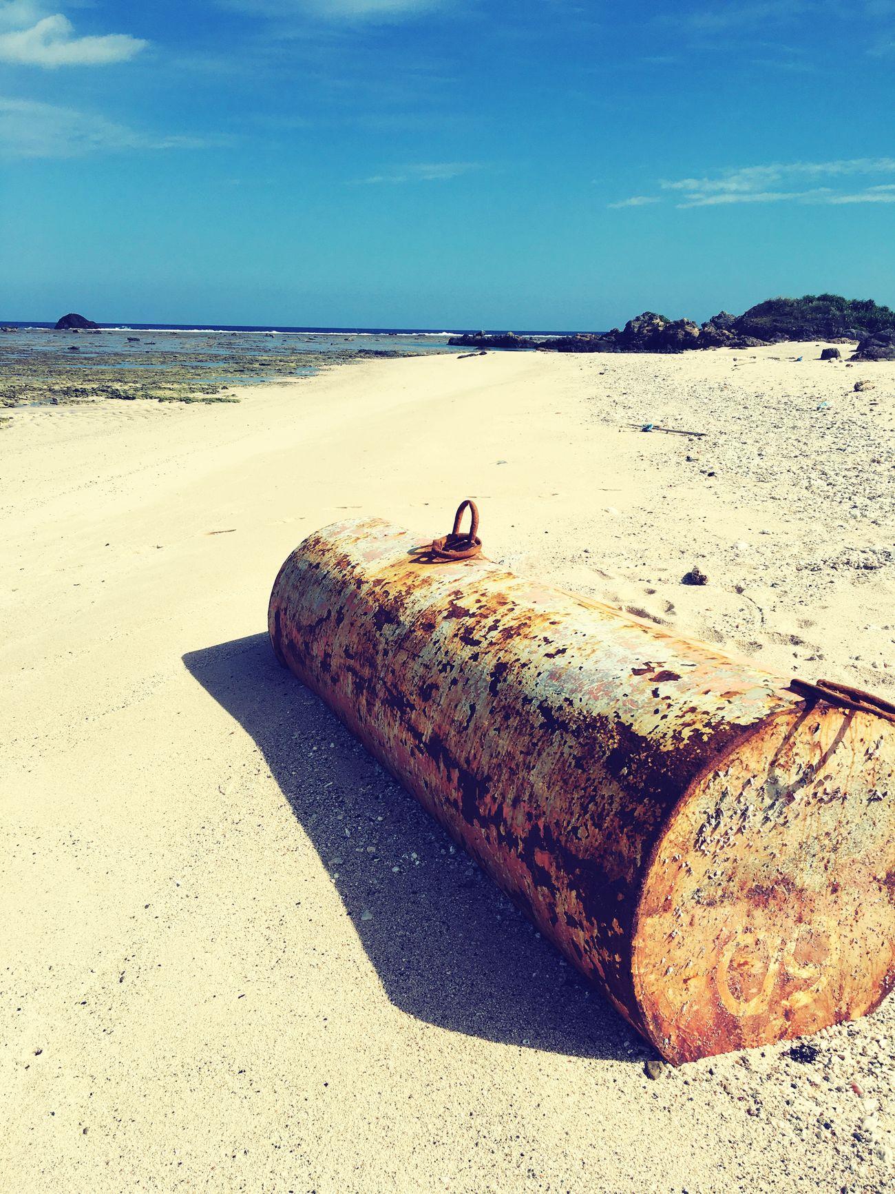 Sea Beach Sand Rusty Abandoned