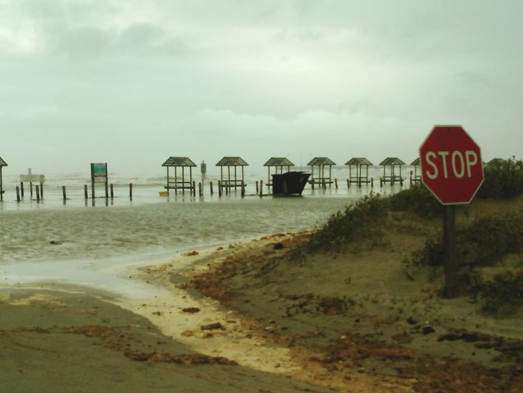 Tropical Storm Flooded Beach 8:48 am today