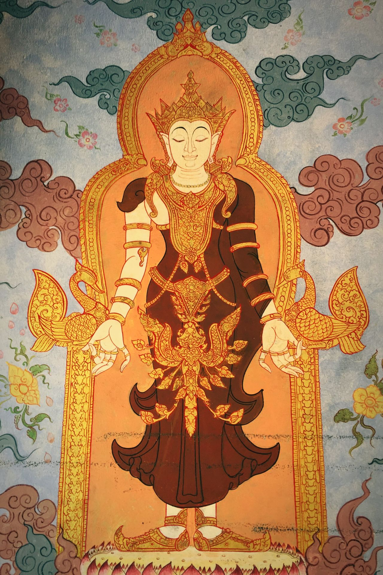 Religion Indoors  No People Day Astrology Sign Temple Buddhism Buddha Painting Charm Calm Buddha Image History Timeless Thailand Chiang Mai Buddhist Temple King Rama V