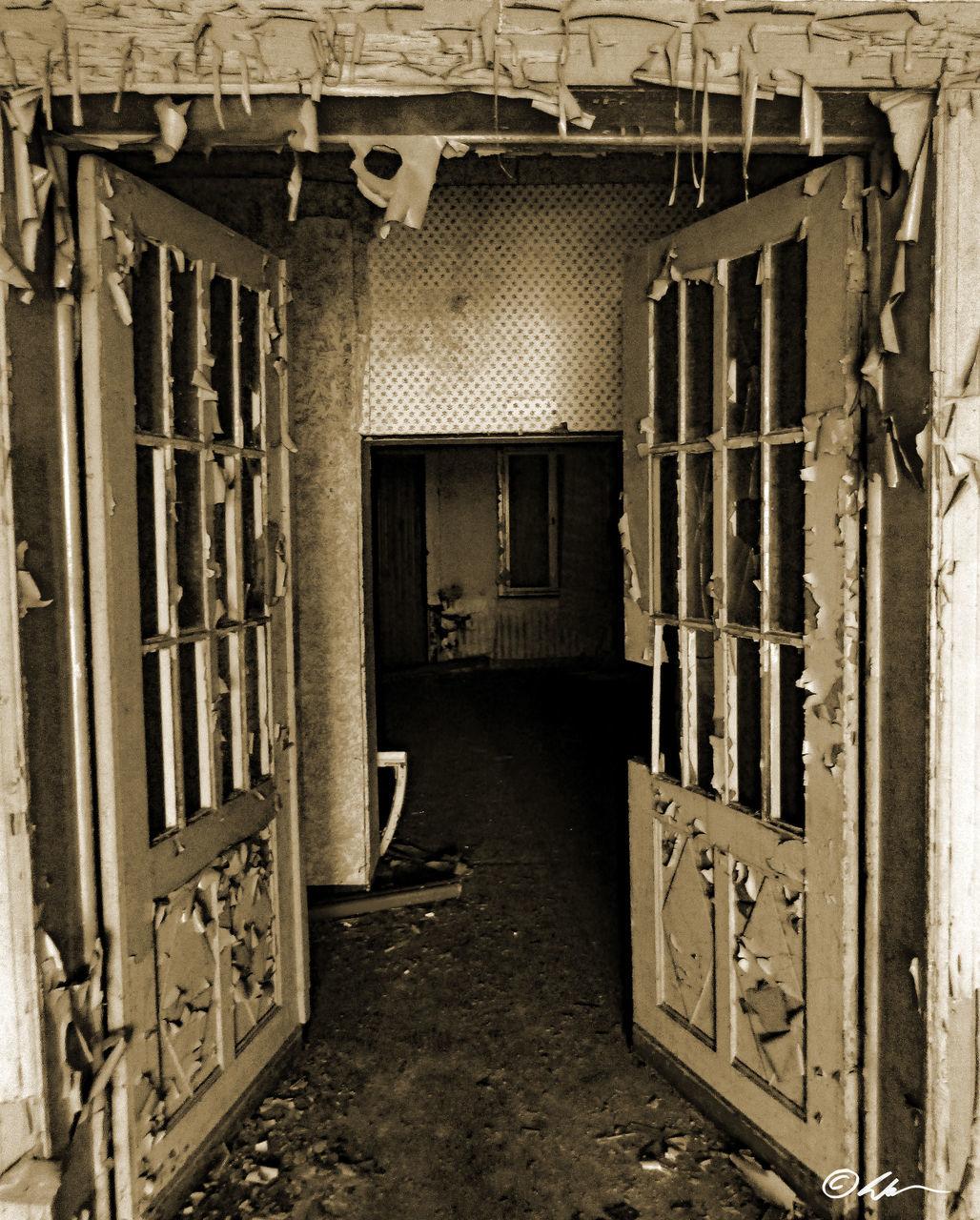 door, architecture, built structure, doorway, prison, no people, indoors, building exterior, entry, day