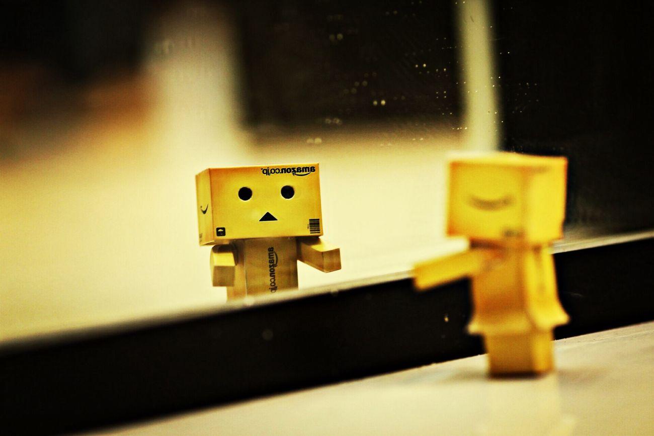 Hey . how can we meet up !!! Meeting Friends Danbo Mirror