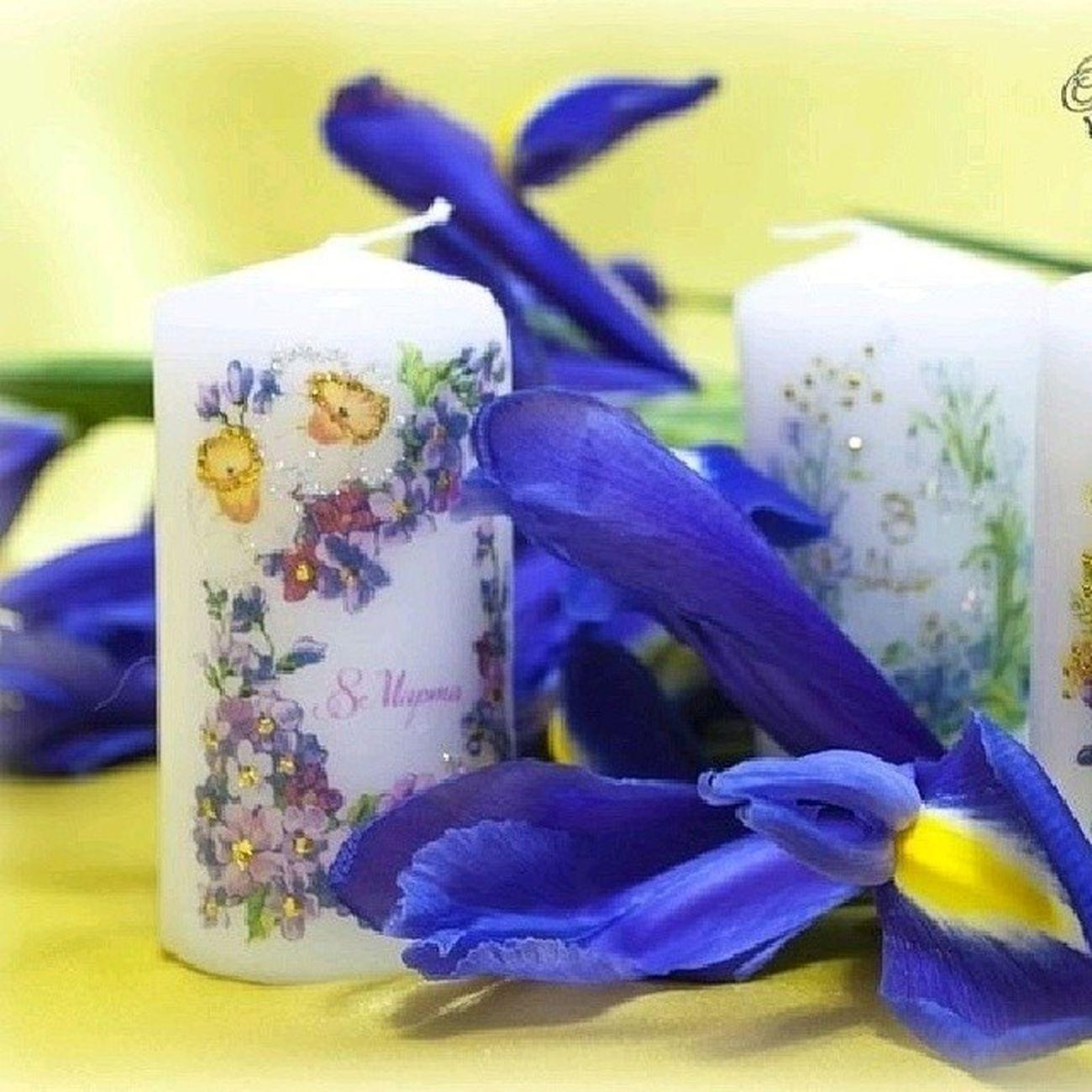 Праздничный декор на свечах. креатив красиво красота Светильник своимируками
