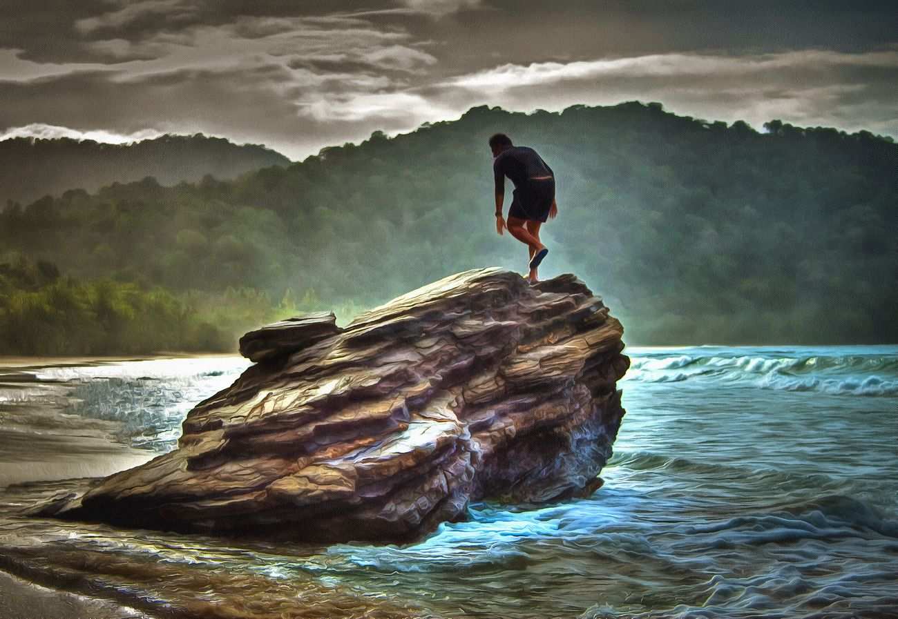 Rock - Object Water Outdoors Beauty In Nature Sea Beauty In Nature Artistic Photography Leisure Activity Artistic Photo Art, Drawing, Creativity Hummingbird Wave Tourism Destination Tropical Climate Landscape