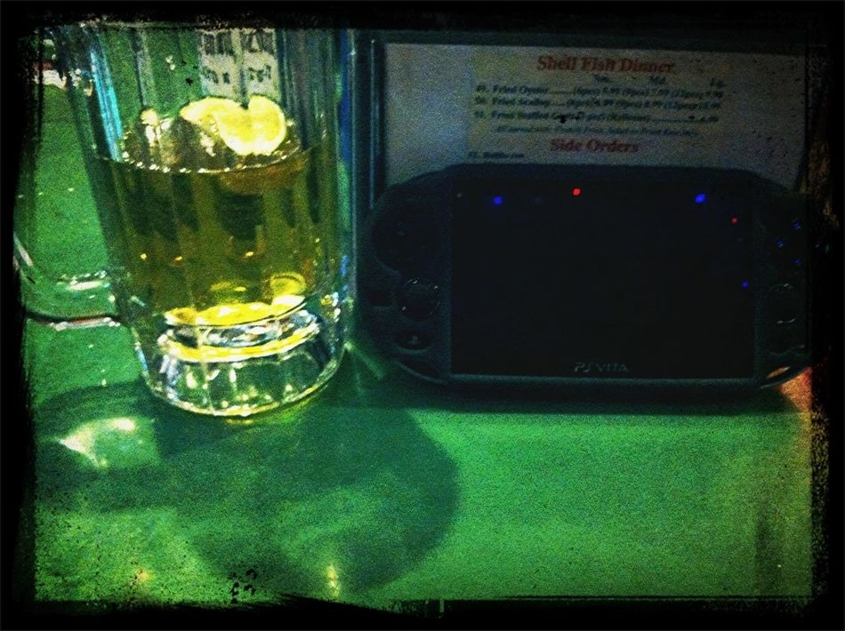 Having A Beer And Playing My PSVita