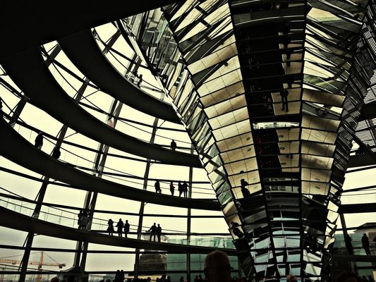 visiting at Reichstag by Stefania Giannuzzi
