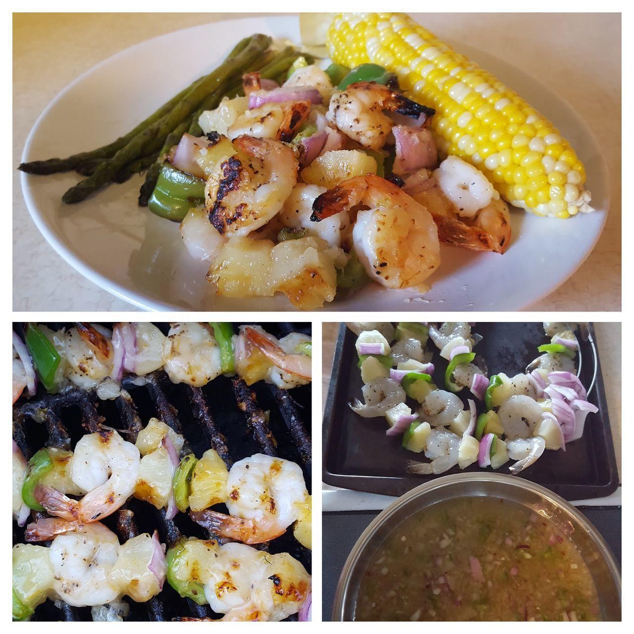 Taste Of Summer  grilled shrimp grilled shrimp Sweet And Sour Grilled Shrimp Grilling Kabobs Grilling Out Grilling Outside Cooking Outdoors