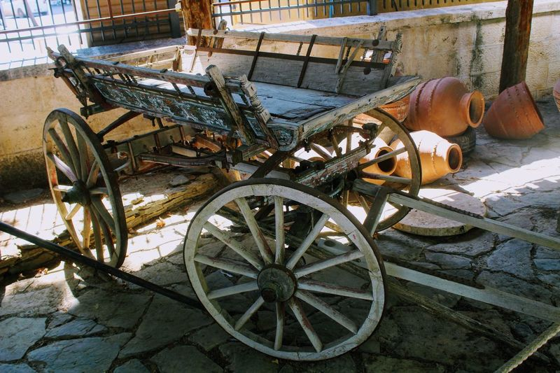 Alanya Archaeological Museum Ancient Ancient Greek Archaeological Museum Museum Exhibits Abandoned Ancient Built Structure Day Exhibit  History Horse Cart Museum No People Old-fashioned Outdoors Transportation Wagon Wheel Wheel