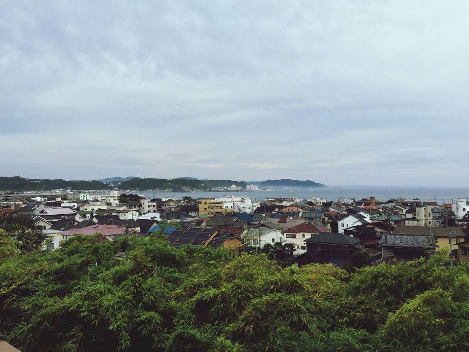 Kamakura Japan By The Ocean Little Houses  Mountains