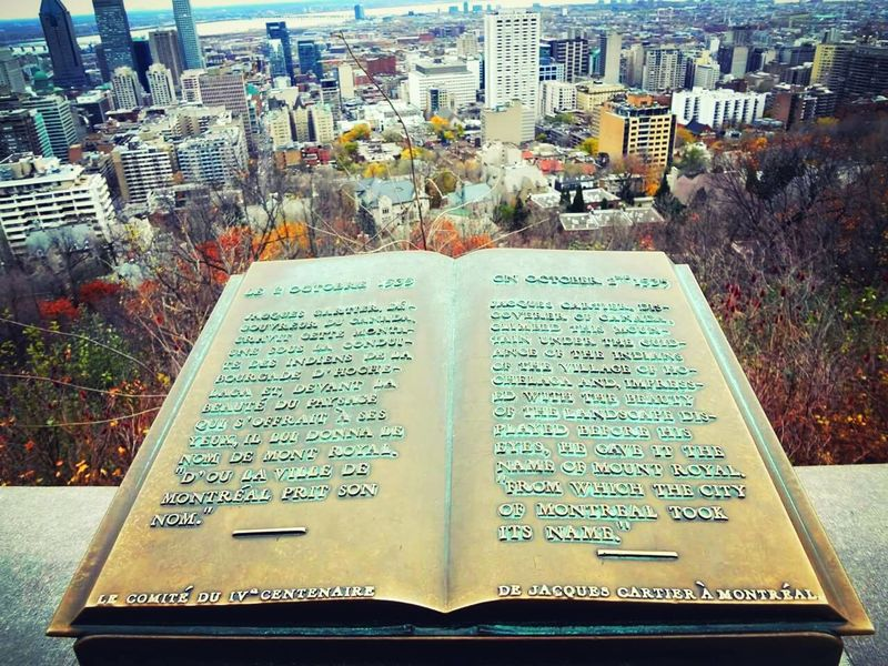 Mont Royal Canada Book Tall Buildings Outdoors