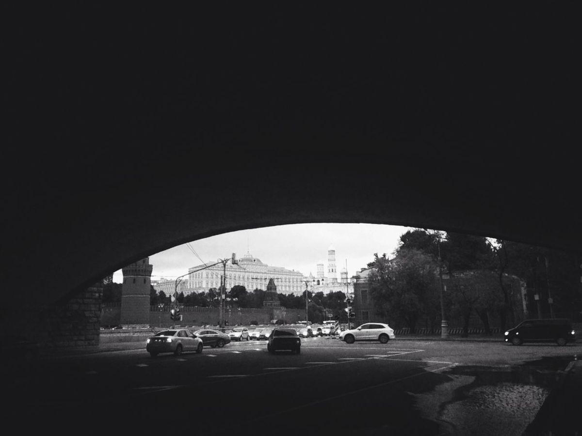 Moscow Streetphotography Under The Bridge