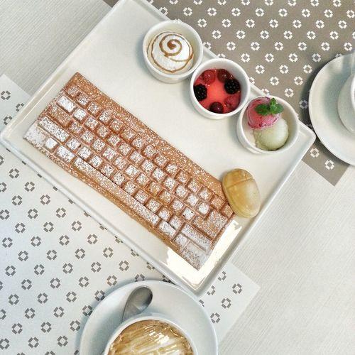 Keyboard Waffle Yum Ke