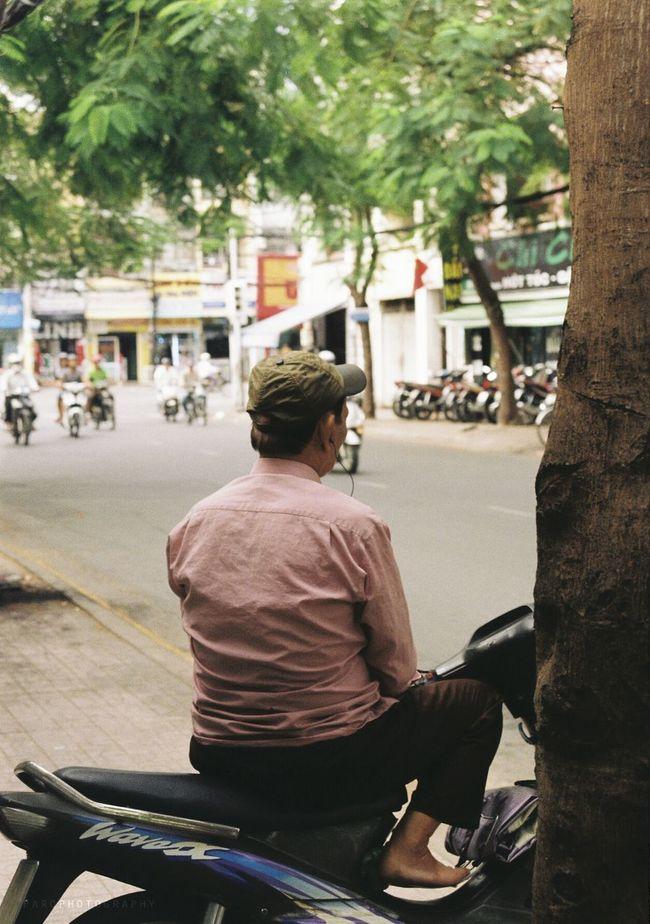 Rest time The Storyteller - 2014 Eyeem Awards Vietnam Motorcycle Taxi 35mm Film