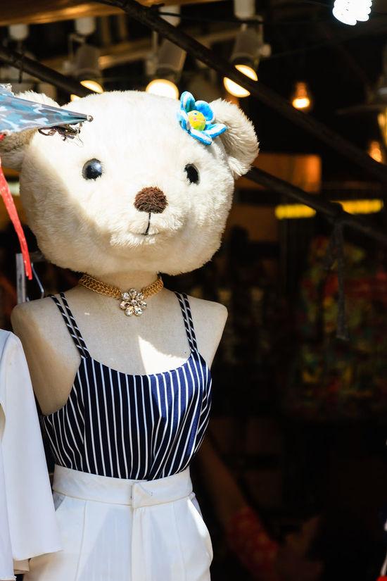Bear Head Bears Flower In Her Hair Mannequins