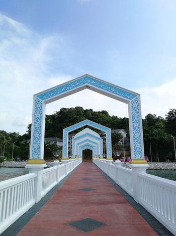 Cloud - Sky Travel Destinations No People Architecture Sky Tree Outdoors Day Masjid Seribu Selawat Built Structure Perspective View Floating Mosque Pangkor Island