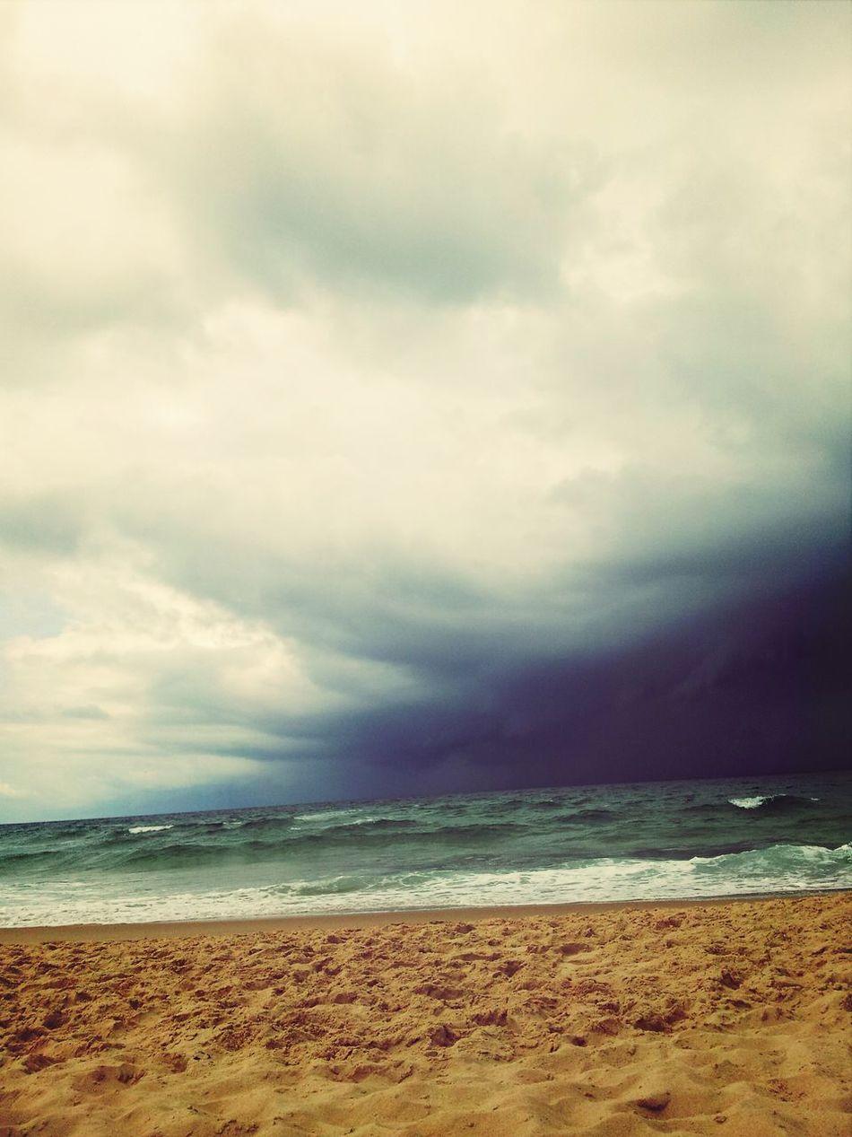 Cloud And Sky Beautiful Beach Le Porge