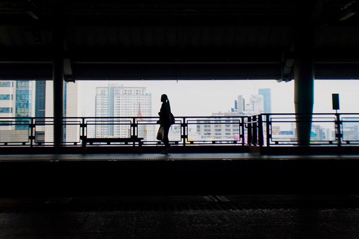 EyeEm Selects Full Length Railing One Person Architecture Bridge - Man Made Structure Transportation Built Structure River Real People Day Silhouette Architectural Column Lifestyles Indoors  Young Adult Adults Only City Adult Mrt Station Train Station Woman