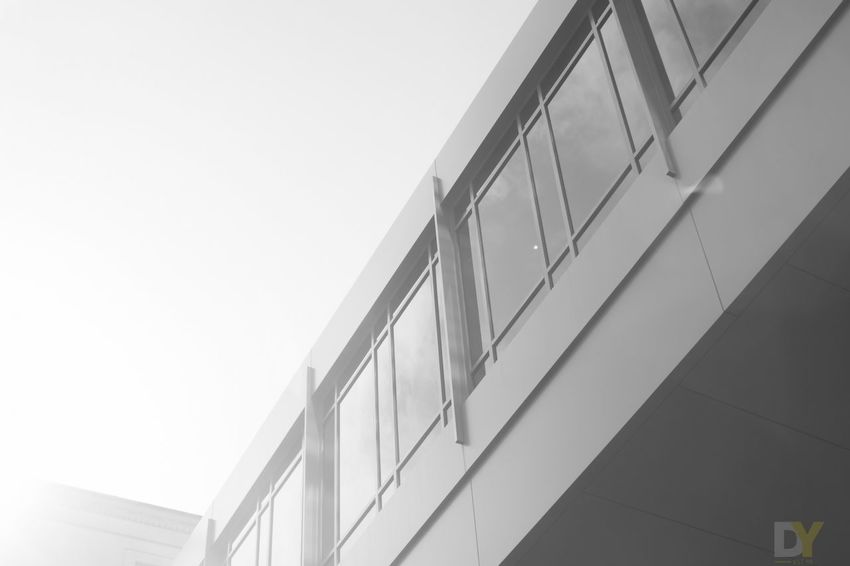Architecture Black & White Building Built Structure City City Life Day Geometric Shape Low Angle View Modern No People Office Building Outdoors Repetition Sky