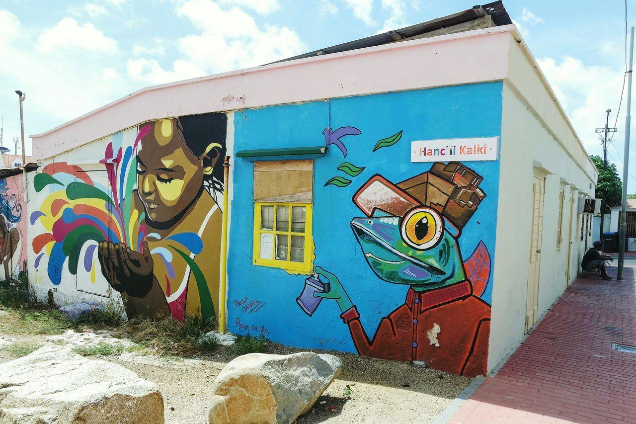 Aruba Graffitiworldwide Graffitiporn Graffiti & Streetart Graffiti Art EyeEm Best Shots Fresh 3 Eye4photography  Travel Destinations Streetphotography City Street Streetphoto_color Open Edit Multi Colored City