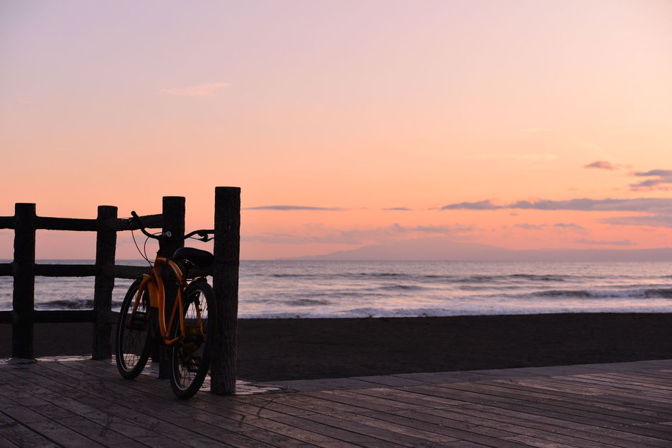 Beautiful stock photos of fahrrad, Beauty In Nature, Bicycle, Cloud - Sky, Horizon Over Water