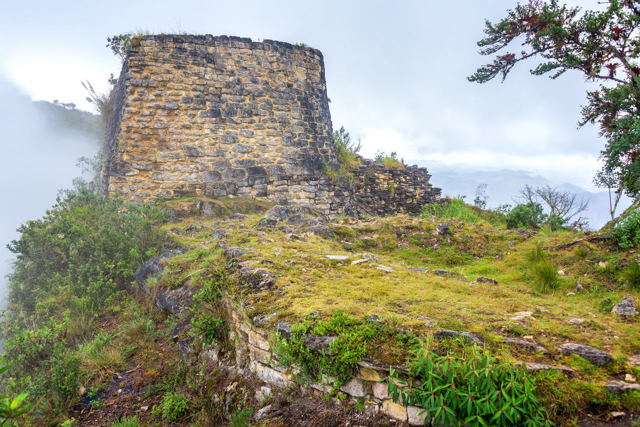 Stone ruins from the Chachapoyas culture in Kuelap, Peru Amazonas Ancient Architecture Building Chachapoyas Chachapoyya Civilization Culture Fort Fortress Historic Inca Kuelap Peru Ruin Ruins South America Stone Traditional Utcubamba