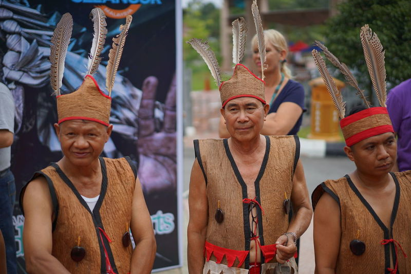 The World Indigenous Day Celebrations 2016 held in Shah Alam, Malaysia on Aug 4-9 2016. Asian Native Asian Native Celebration Celebration Event Cultures Enjoyment LandRightsNow Lifestyles Malaysia Native Native Native Men Outdoors PHOAS2016 Portrait Side By Side Traditional Culture
