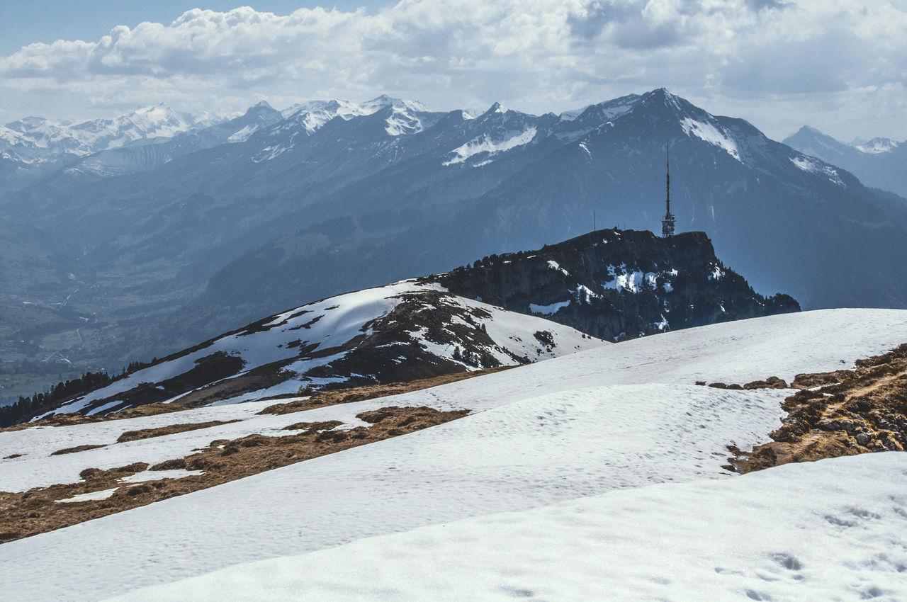 Mountain Mountain Range Outdoors Radio Tower Range Scenics Snow Snowcapped Mountain