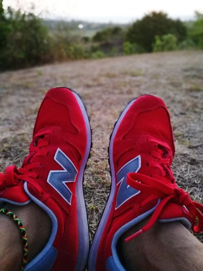 Run with me baby.. Shoe Pair Red Low Section Shoelace Human Body Part Human Leg Standing Canvas Shoe One Person People Lifestyles Close-up Adult Men Day Outdoors Only Men
