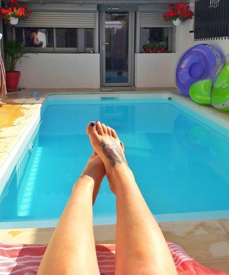 Relax ✌ Swimming Pool Water Relaxation Lifestyles Personal Perspective France EyeEm Tattoo Tattoos Tattooed Tattooedgirls