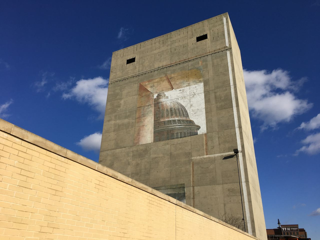 mural of capitol hill Architecture Building Exterior Built Structure Capitol Hill Clock Day Low Angle View No People Outdoors Sky Sunlight Minimalist Architecture