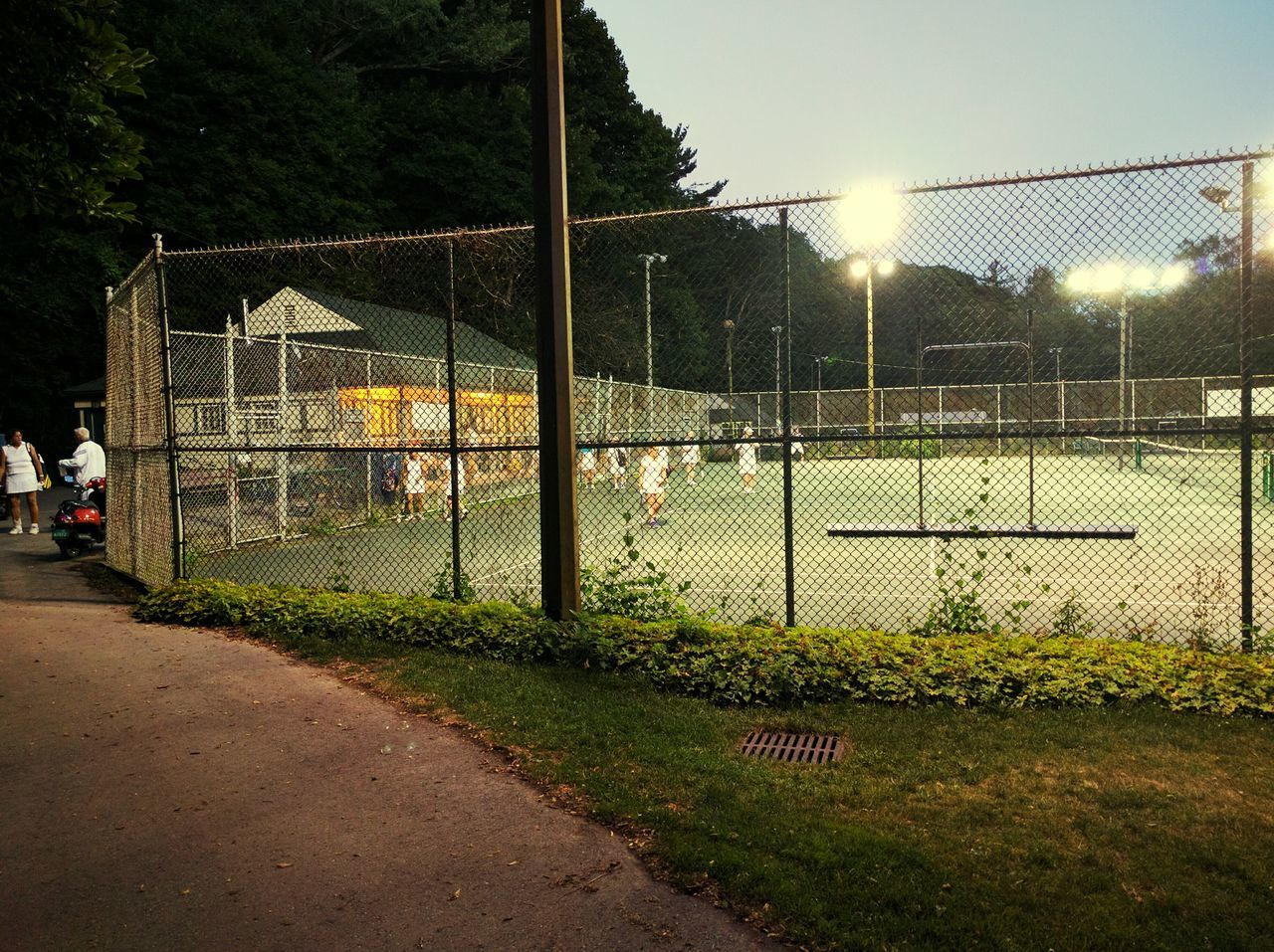 Night Time Tennis Spot Light  Fitness Tennis 🎾 Senior Fitness Dusk At Lawrence Park