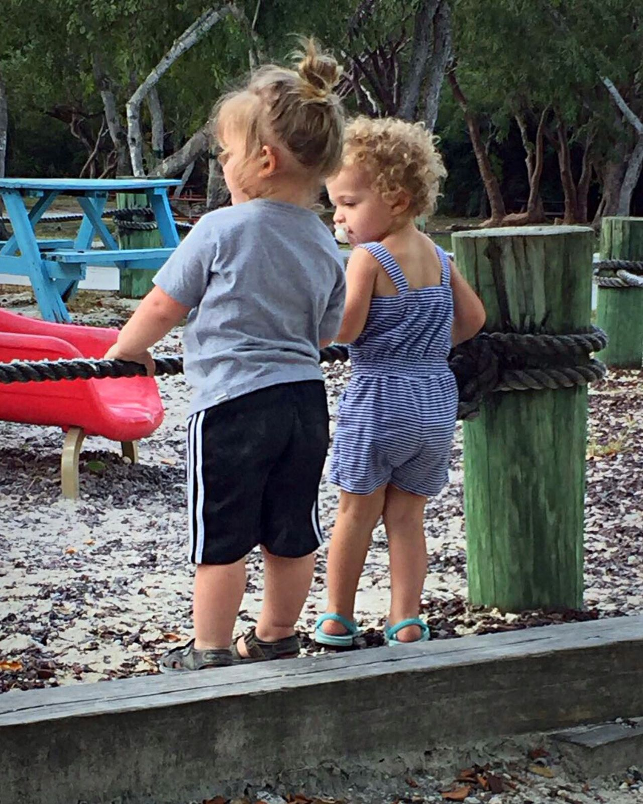 Family Childhood Togetherness Cousins  Children Playground Outdoors Talking Together Playing Happy Girl And Boy Child Cute Sweet Day Vacation Fun Summer Toddlers  Standing Playtime Close Friends Forever