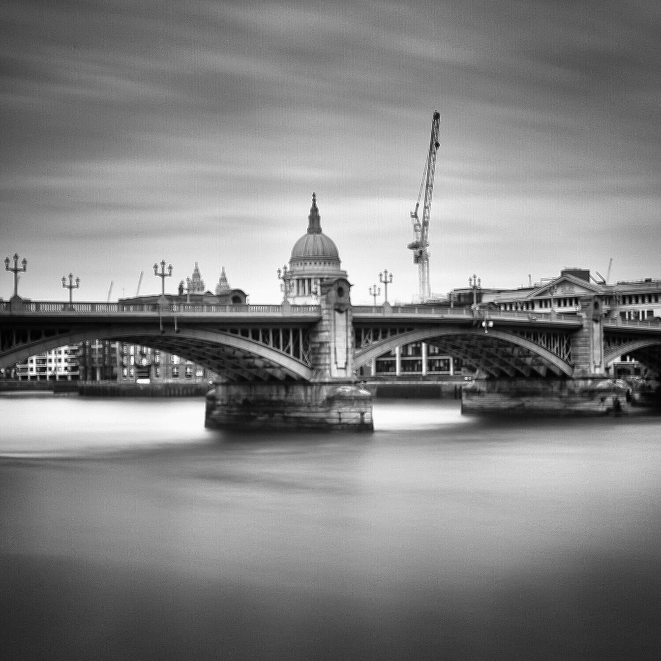 Classics..... London Stpauls City Icons City City Life Fine Art Photograhy Bnwmood Outdoors Black And White Bnw_of_our_world Bnw Photography London_only Day Bridge - Man Made Structure No People River Thames River Cities Of Europe Dome Cityscape European Architecture Architecture Built Structure