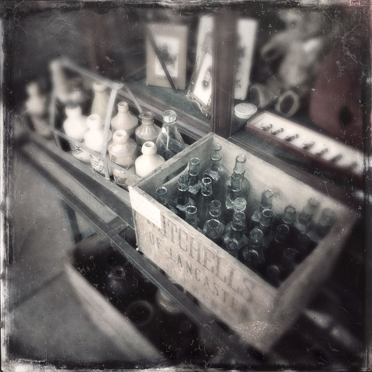 Tintype Bottles Collection Antique Shop Antique