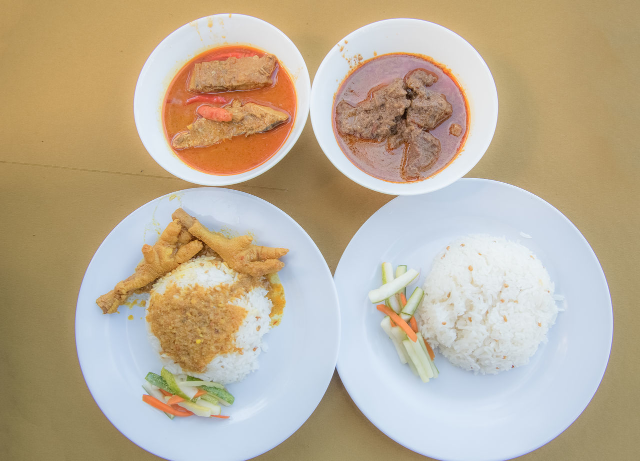 malay food. Breakfast Chicken Feet Curry Day Food Food And Drink Freshness Fried Egg Healthy Eating High Angle View Indoors  Lunch Malay Food Malaysia Meal No People Plate Ready-to-eat Sandwich Serving Size Table Toasted Bread