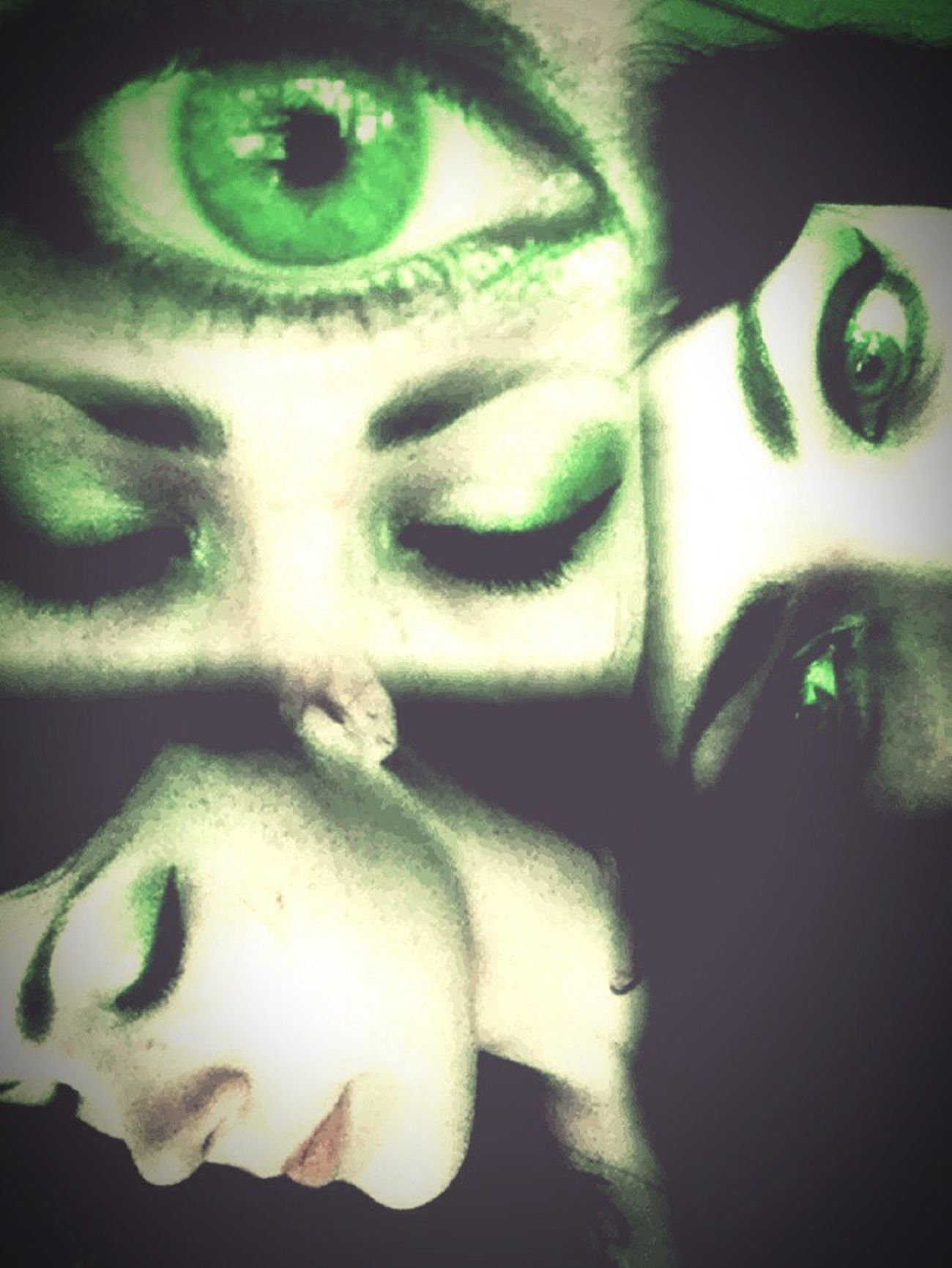 Eyes Green Women Of EyeEm Thrid Eye Green Eyes Girls Whereismymind Distortion Psychedelic Abstract