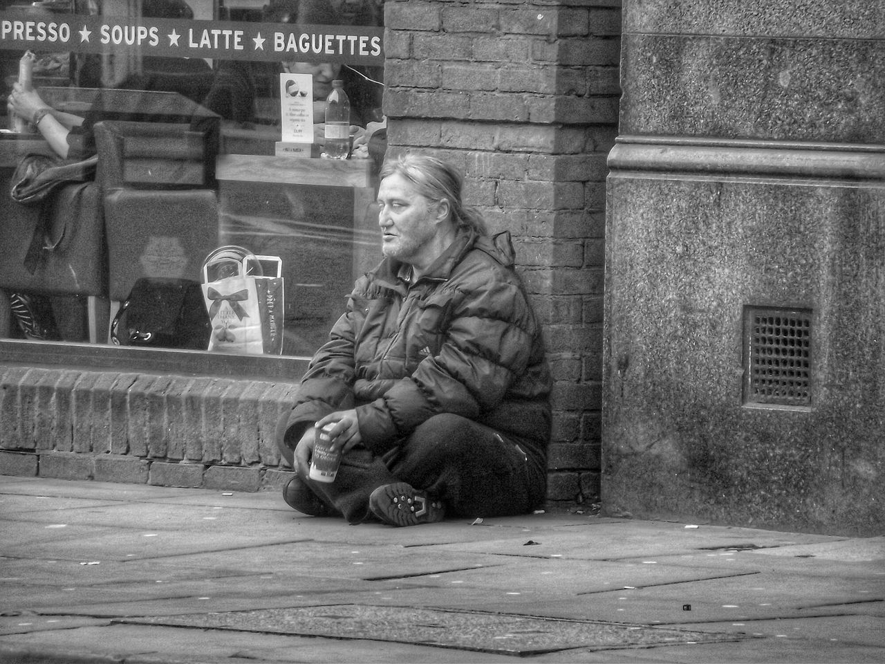Why is it when we walk down the streets a lot of us don't even see the homeless another photo in my series People of Manchester The Purist (no Edit, No Filter) No Filter, No Edit, Just Photography EyeEm Best Shots - No Edit Creative Light And Shadow Showcase: November People Of Manchester Streetphotography Streetphoto_bw Homeless On The Streets Eye4photography  B&W Portrait Blackandwhite Black And White Photography Monochrome B&w Street Photography Light And Shadow Monochrome _ Collection Homeless Of Manchester Uk