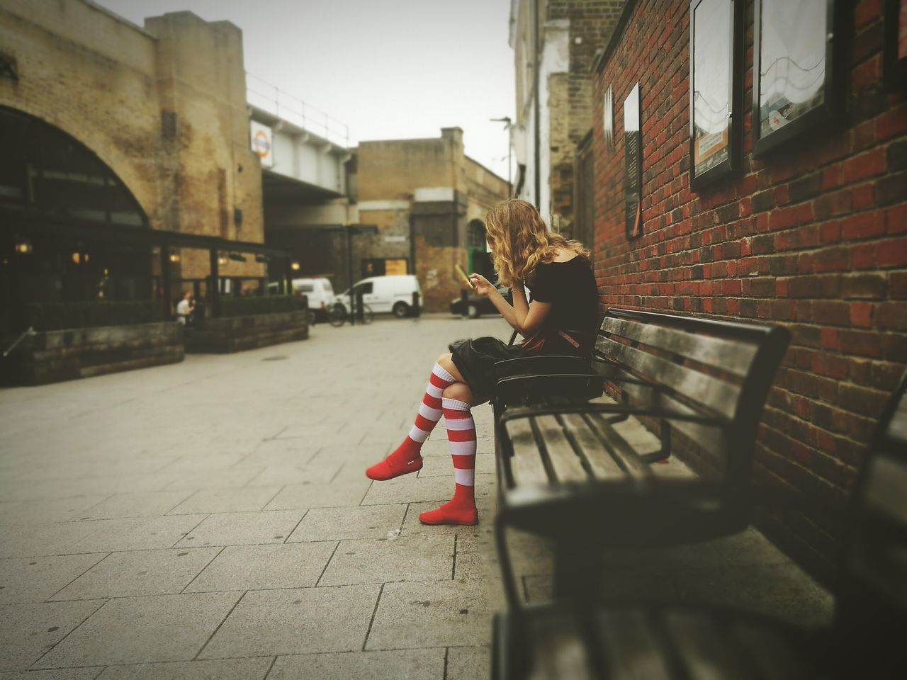 Urbanphotography Streetphotography London Hoxton City Life Street Photography Seated Lady Seated Woman Seated