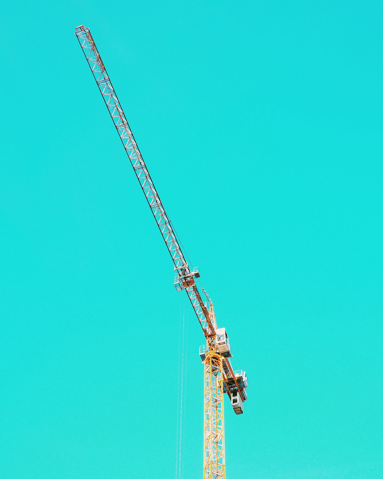 Clear Sky Copy Space Low Angle View Construction Industry Blue Construction Site Outdoors Built Structure Berlin Crane Construction Summer Sky Factory Architecture Day