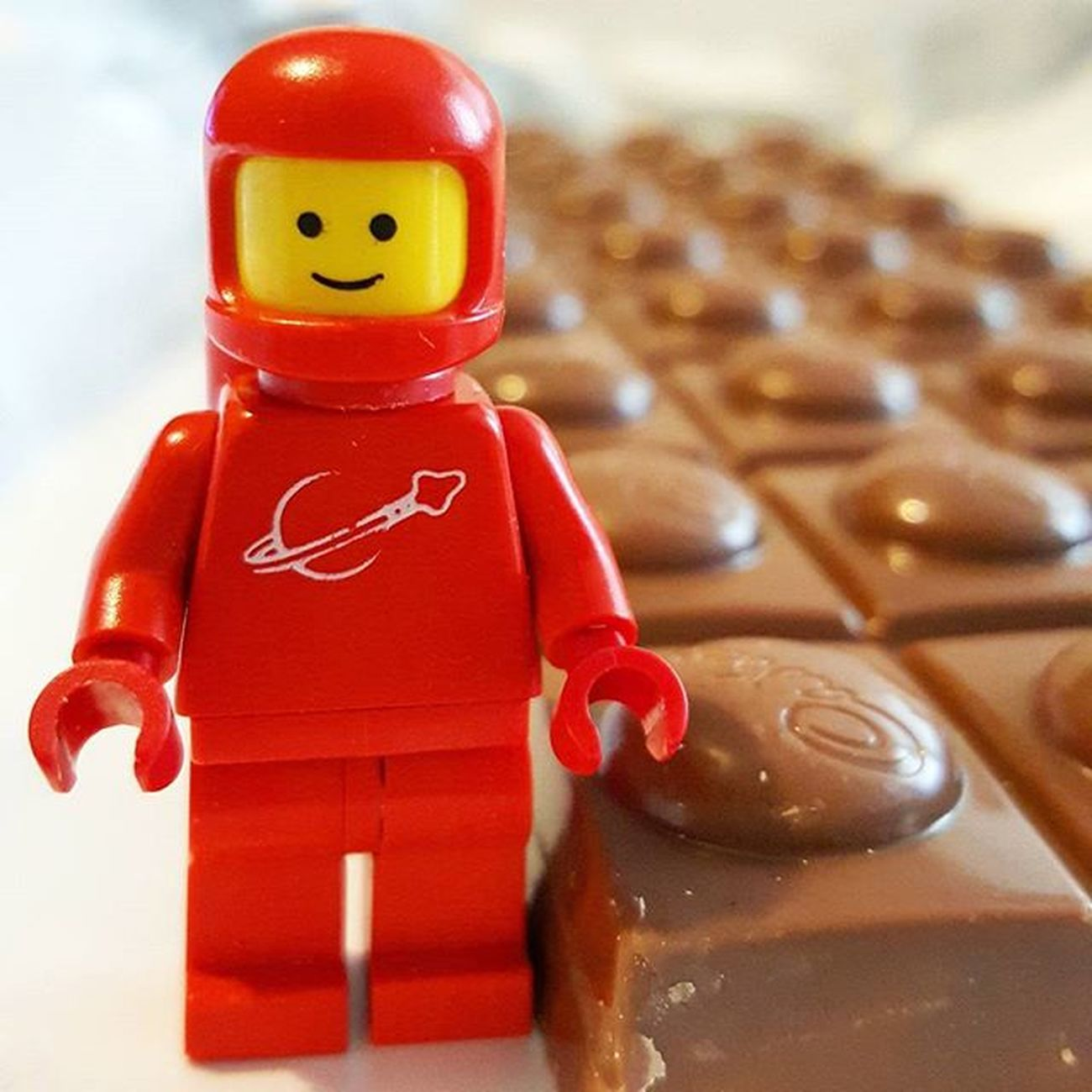 "Space Food 1980 Something Space Guy approves of the ""Lego block choc' (aka Dairy Milk - Big Taste). 😅👍 1980somethingspaceguy Legoblockchoc Chocolate Cadbury Bigtaste Toffeewholenut Yum Spaceman LEGO Classic Vintage Red Authentic 1979 Novisor Legography Brickify Generous Afol Quickedit Astronomy Celestialswag Childhood Haha Fun abstract legogram instalego retro"