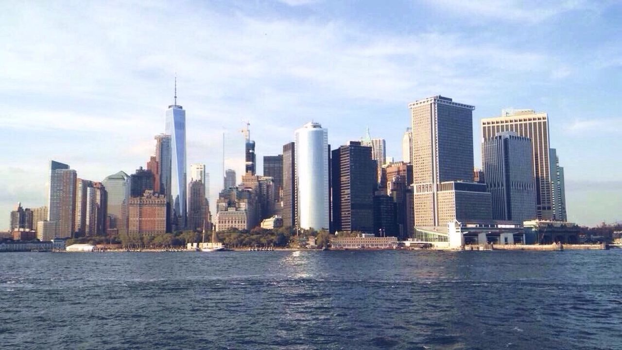 NYC 🌟 City Architecture Skyscraper Building Exterior Built Structure Water Waterfront Cityscape Urban Skyline Modern Tower Sea Nautical Vessel Outdoors Financial District  Travel Destinations Sky Day No People Skyline